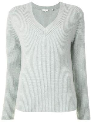 Shaker Rib Knit Cashmere Sweater