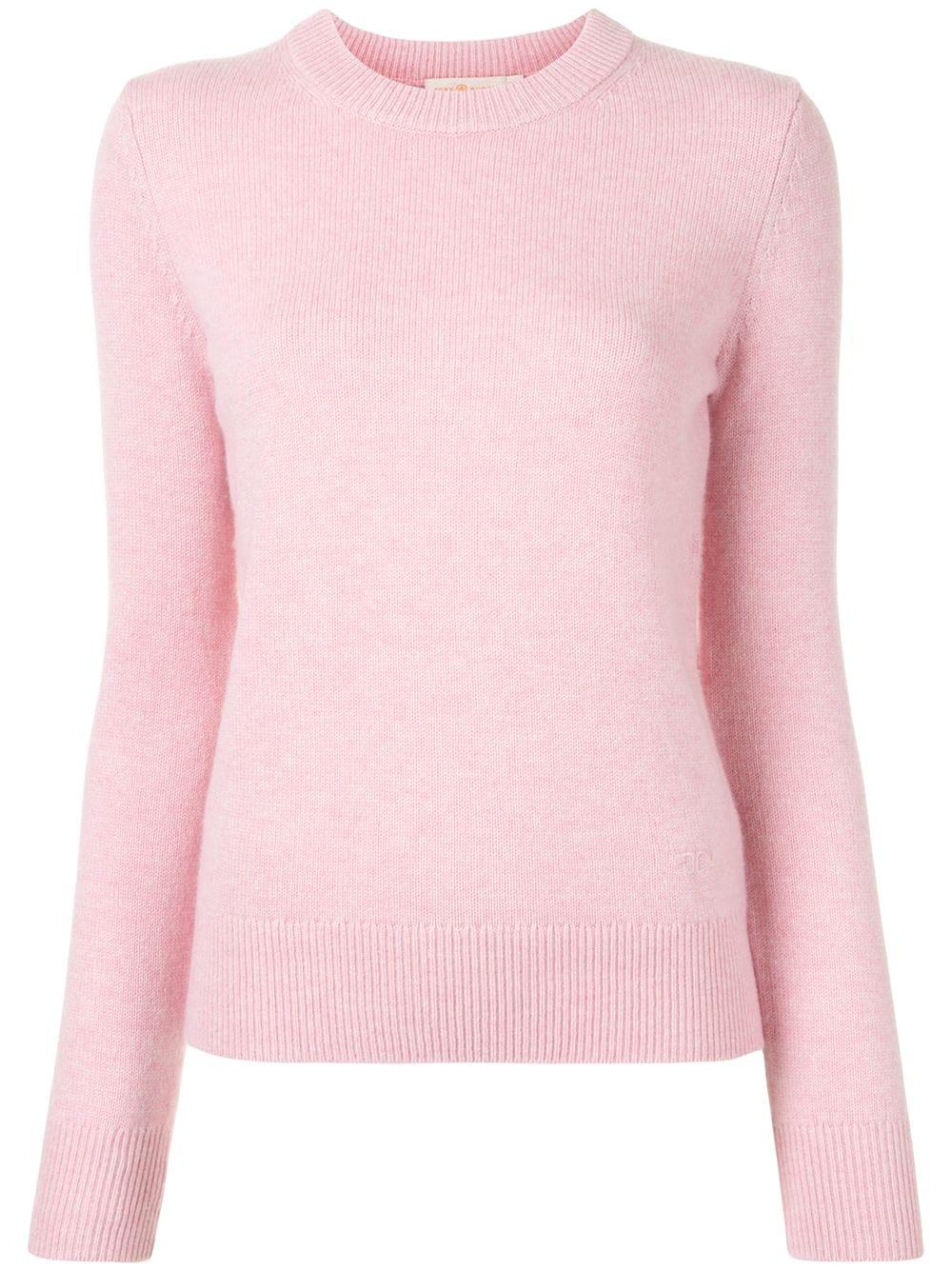 Cashmere Sweater With Sequin Elbow Patches Item # 77213-972