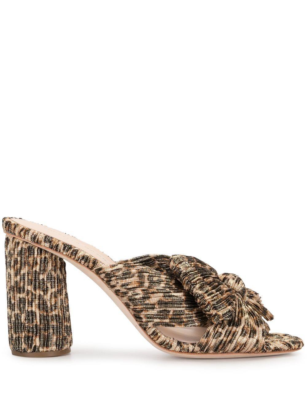 Penny Leopard Mule