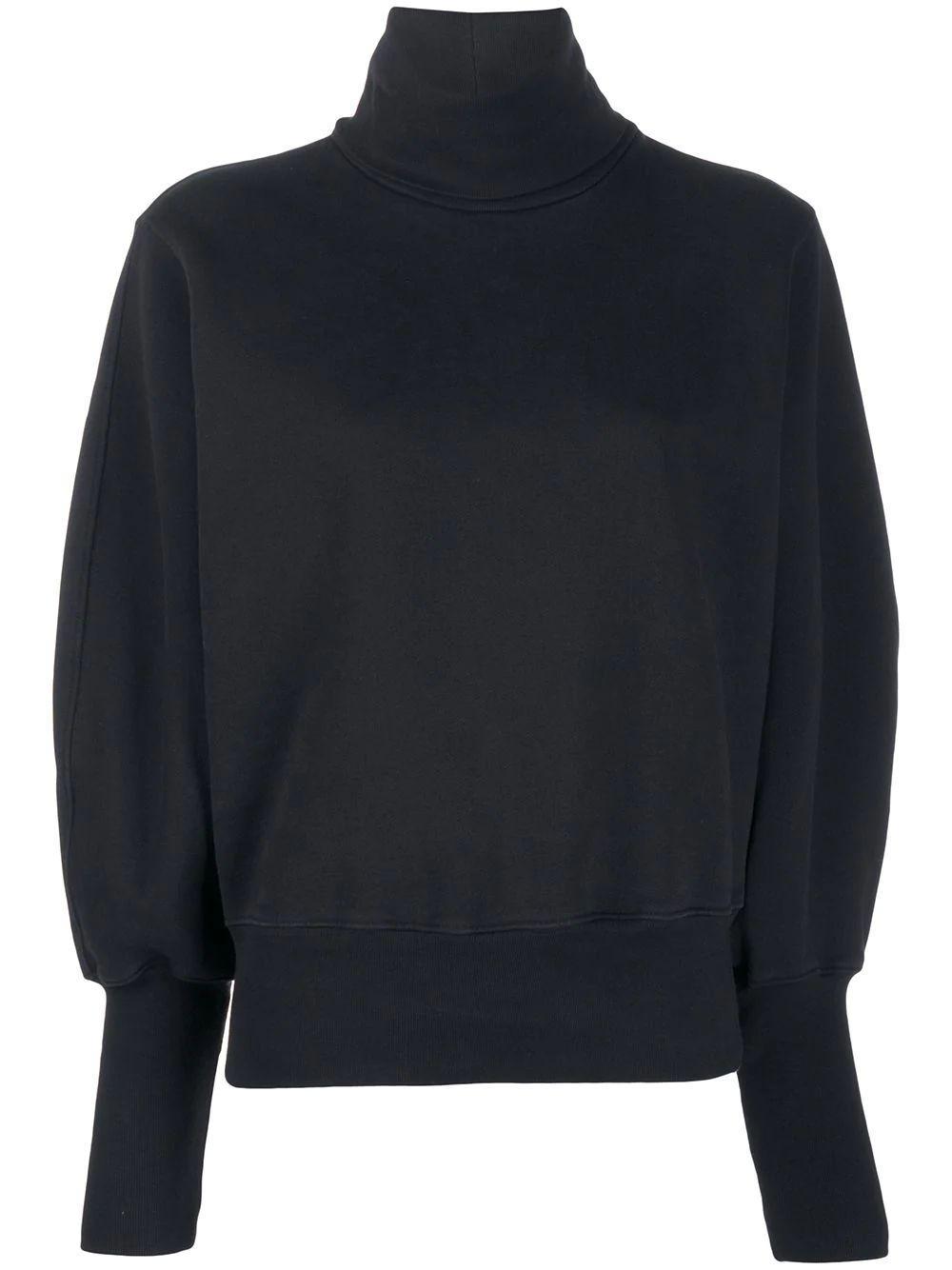 Extended Rib Turtleneck Sweatshirt Item # A7068