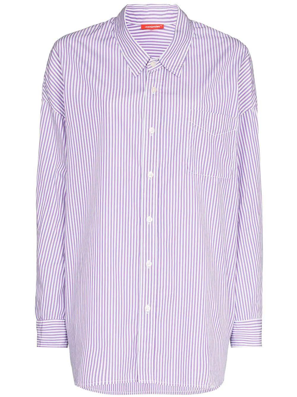 Striped Button Front Shirt Item # DSW4230-696