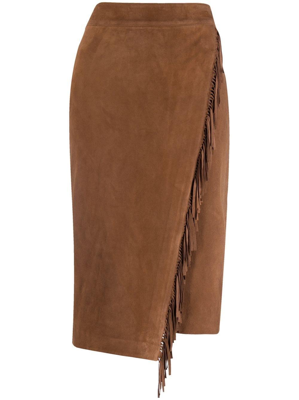 Sanoe Fringe Suede Skirt Item # 2009LT0133319