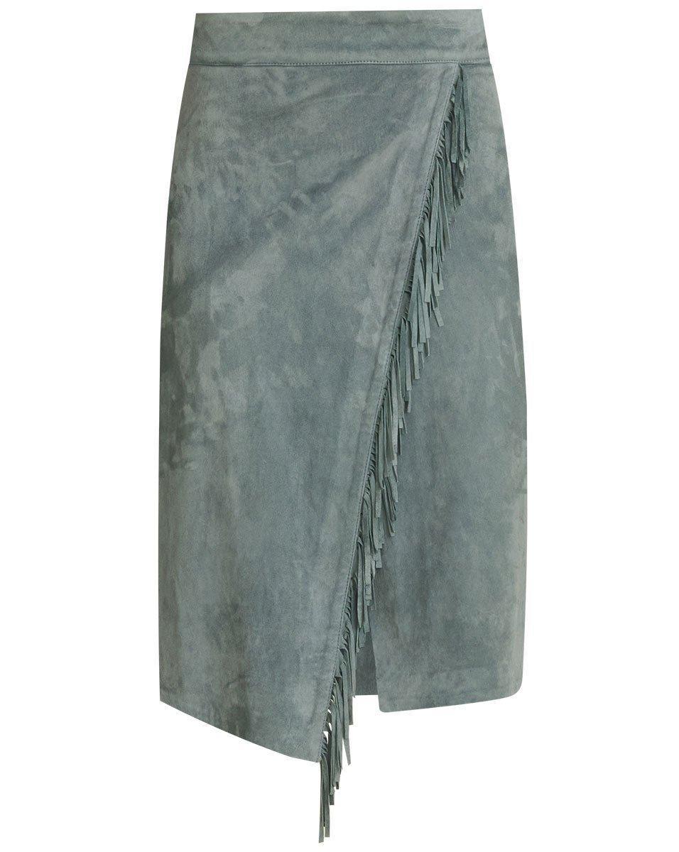 Sanoe Fringe Suede Skirt