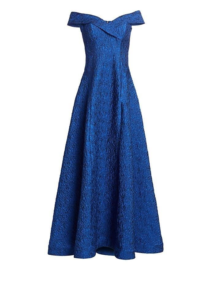 Jacquard Bow Bodice Gown
