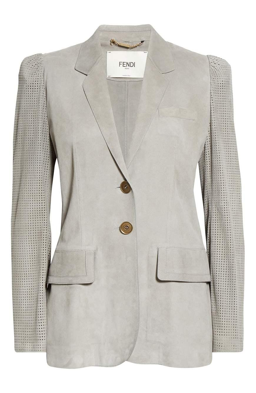 Perforated Suede Blazer