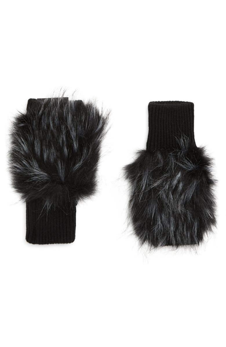 Long Hair Faux Fur Mittens Item # JACMFTL