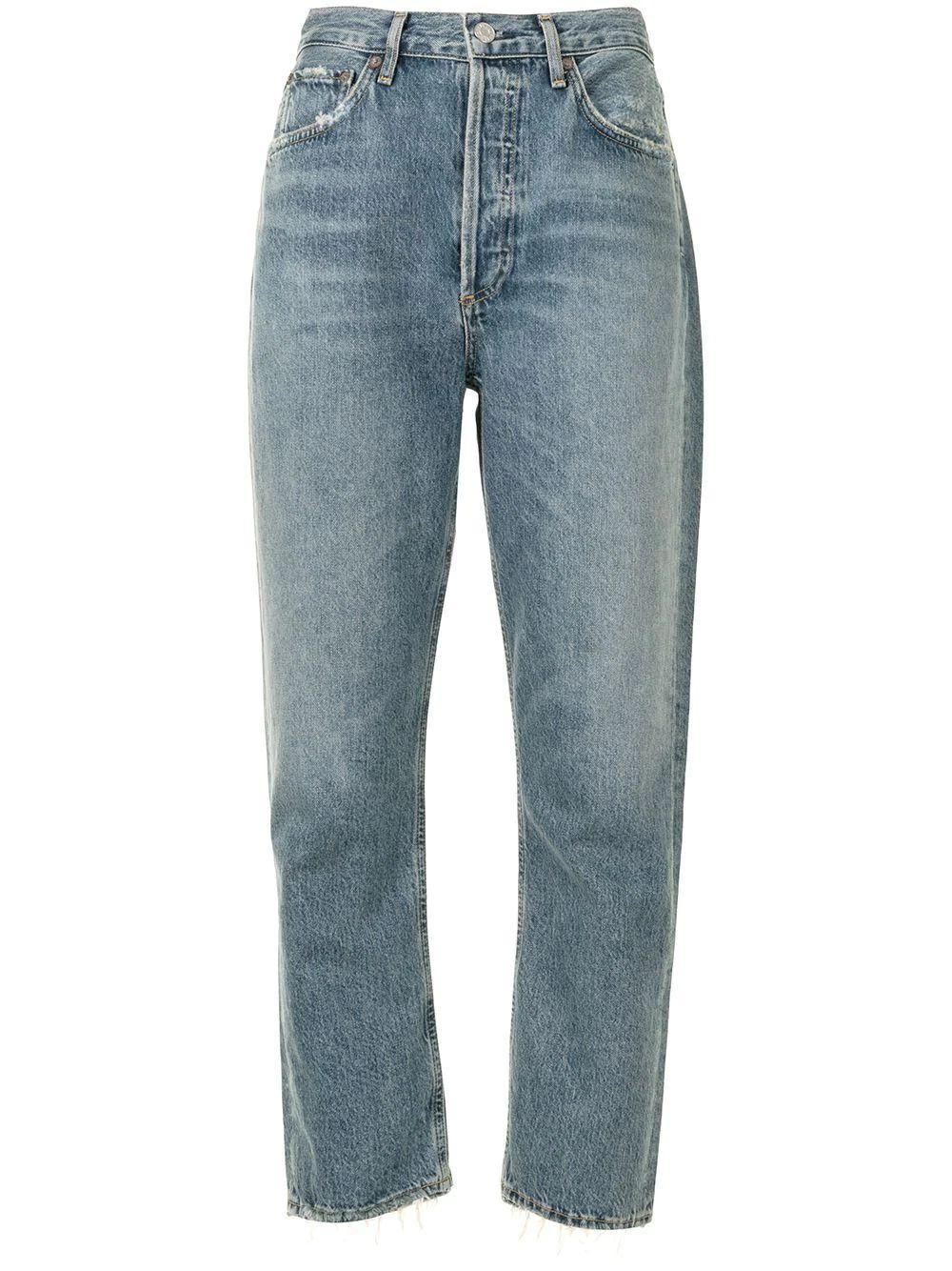 Riley Straight Leg Cropped Jean Item # A056C-983