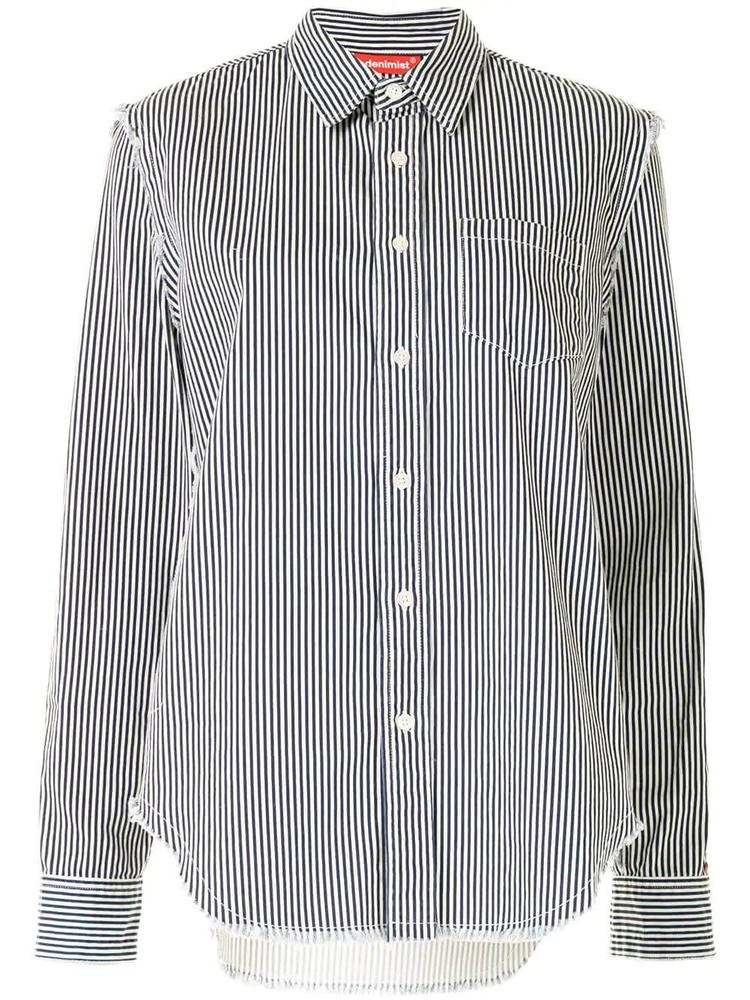 Frayed Edge Striped Shirt