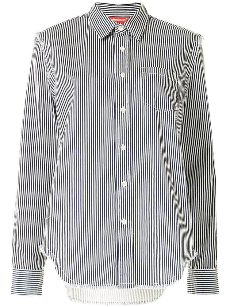 Frayed Edge Striped Shirt