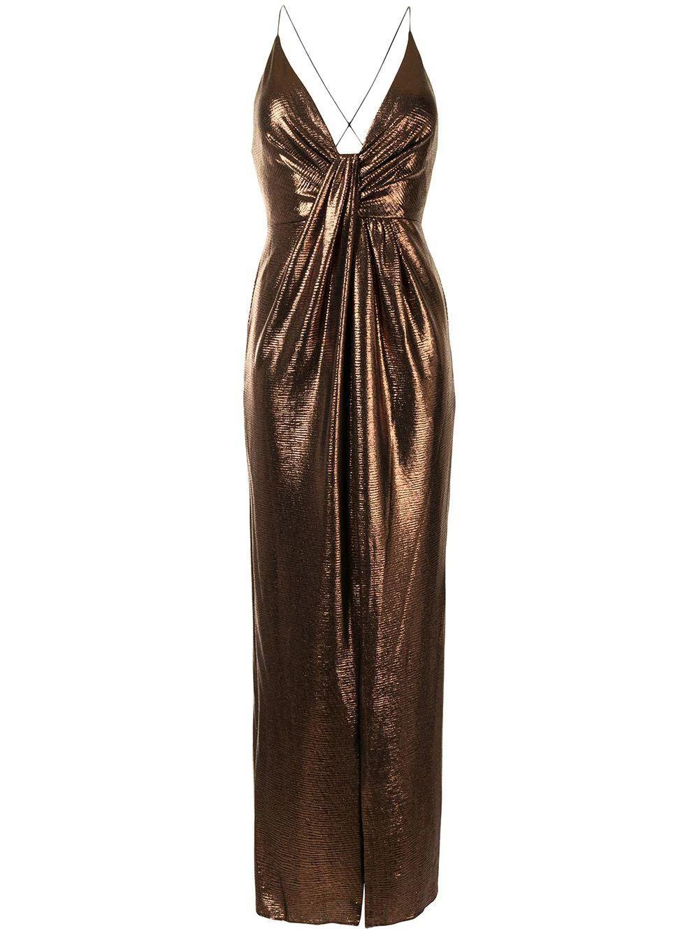 Metallic Column Dress