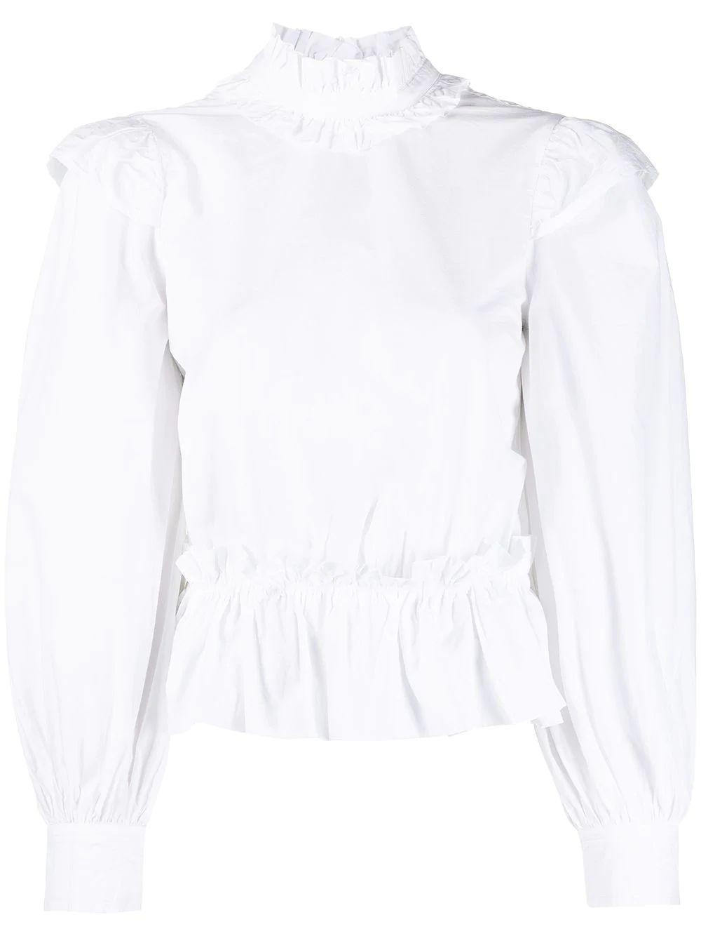 Cotton Poplin Blouse Item # F5446