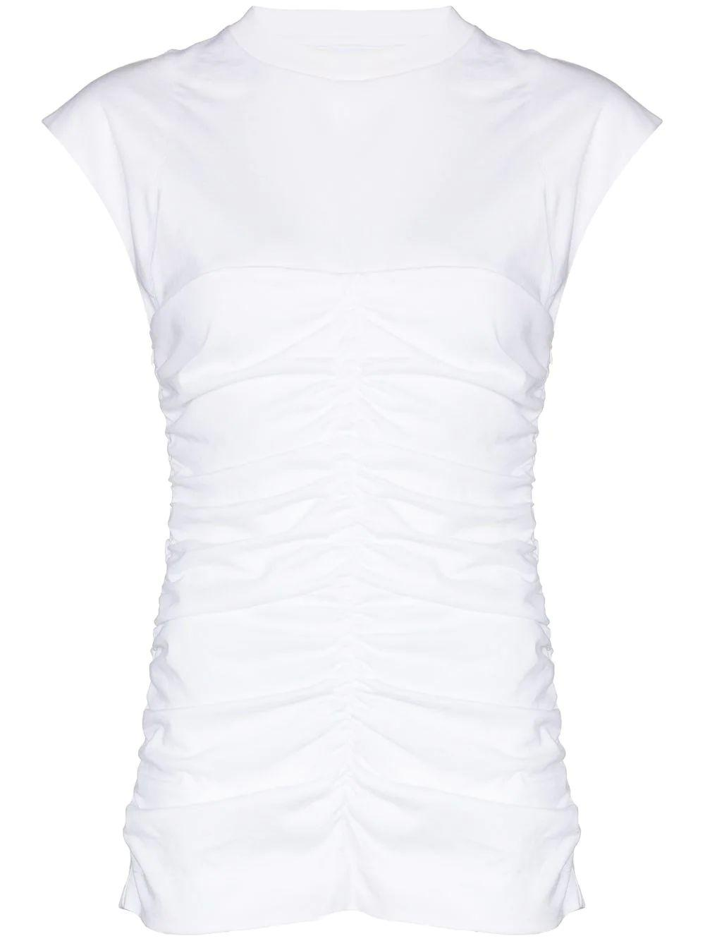 Basic Cotton Ruched Tee Item # T2697