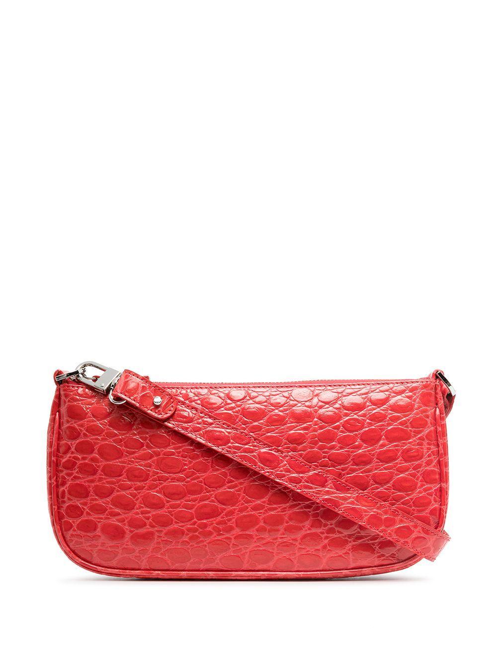 Rachel Croc Embossed Shoulder Bag Item # 21CRRCLSPMDMED