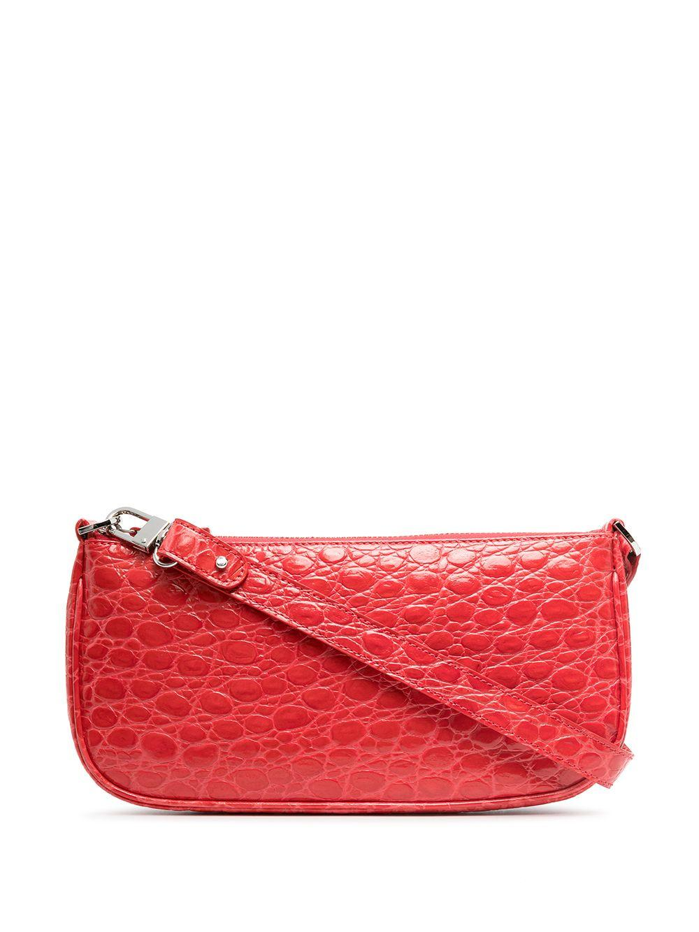 Rachel Croc Embossed Shoulder Bag