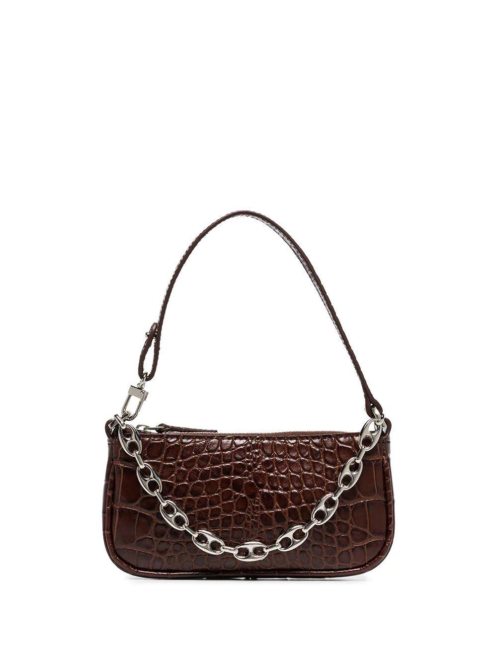 Mini Rachel Croc Shoulder Bag Item # 20CRMIRANEDSMA