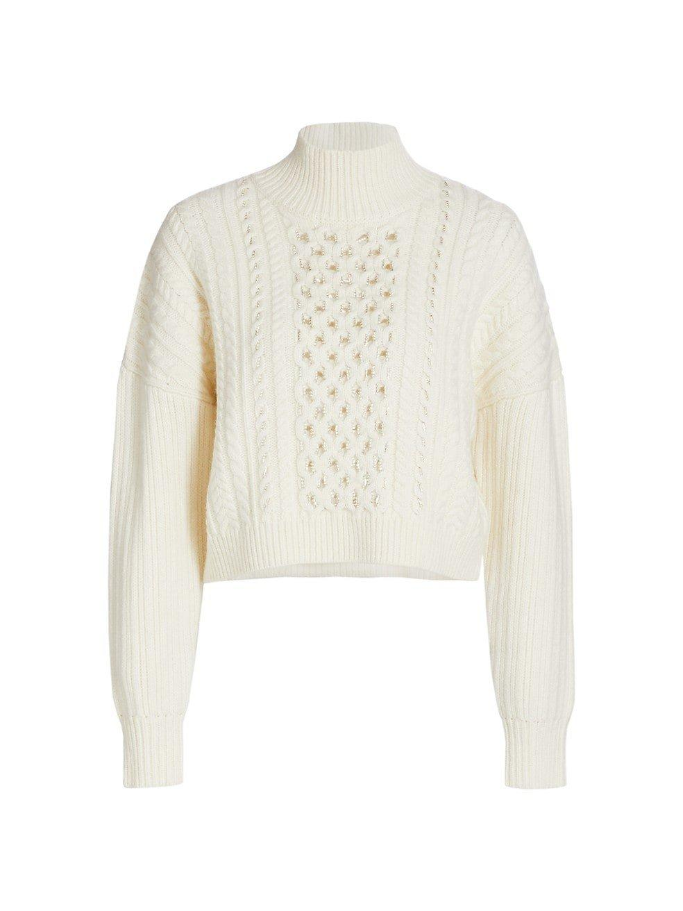 Gia Cable Knit Turtleneck Sweater