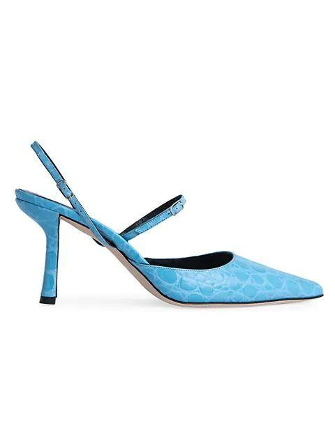 Tiffany Croc-Embossed Slingback