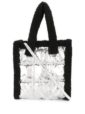 Tone Quilted Tote Bag