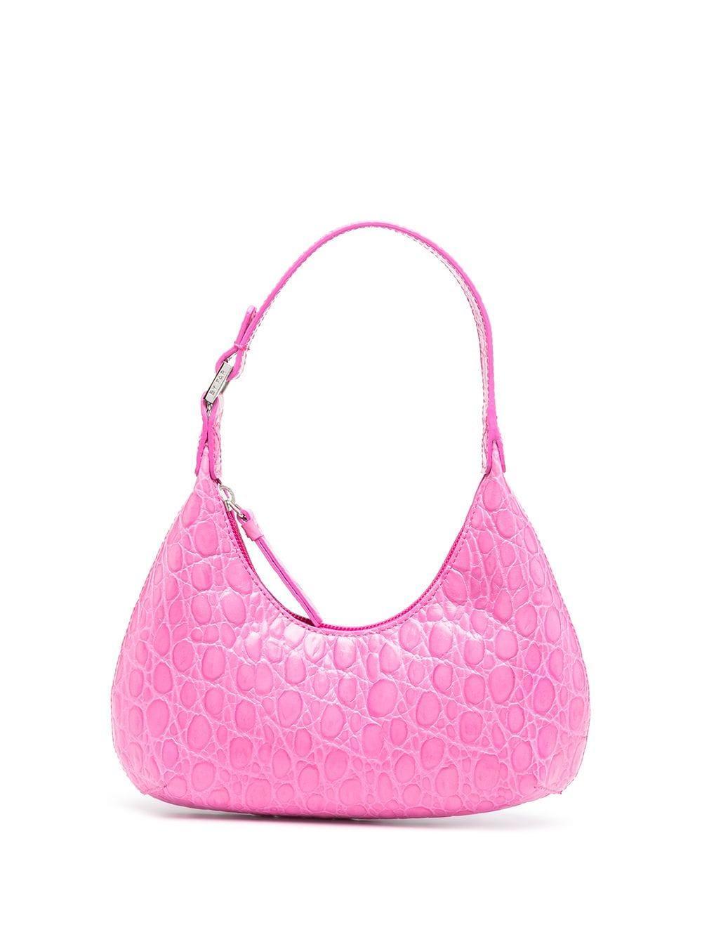 Baby Amber Croco Bag Item # 21CRBASFCHDSMA