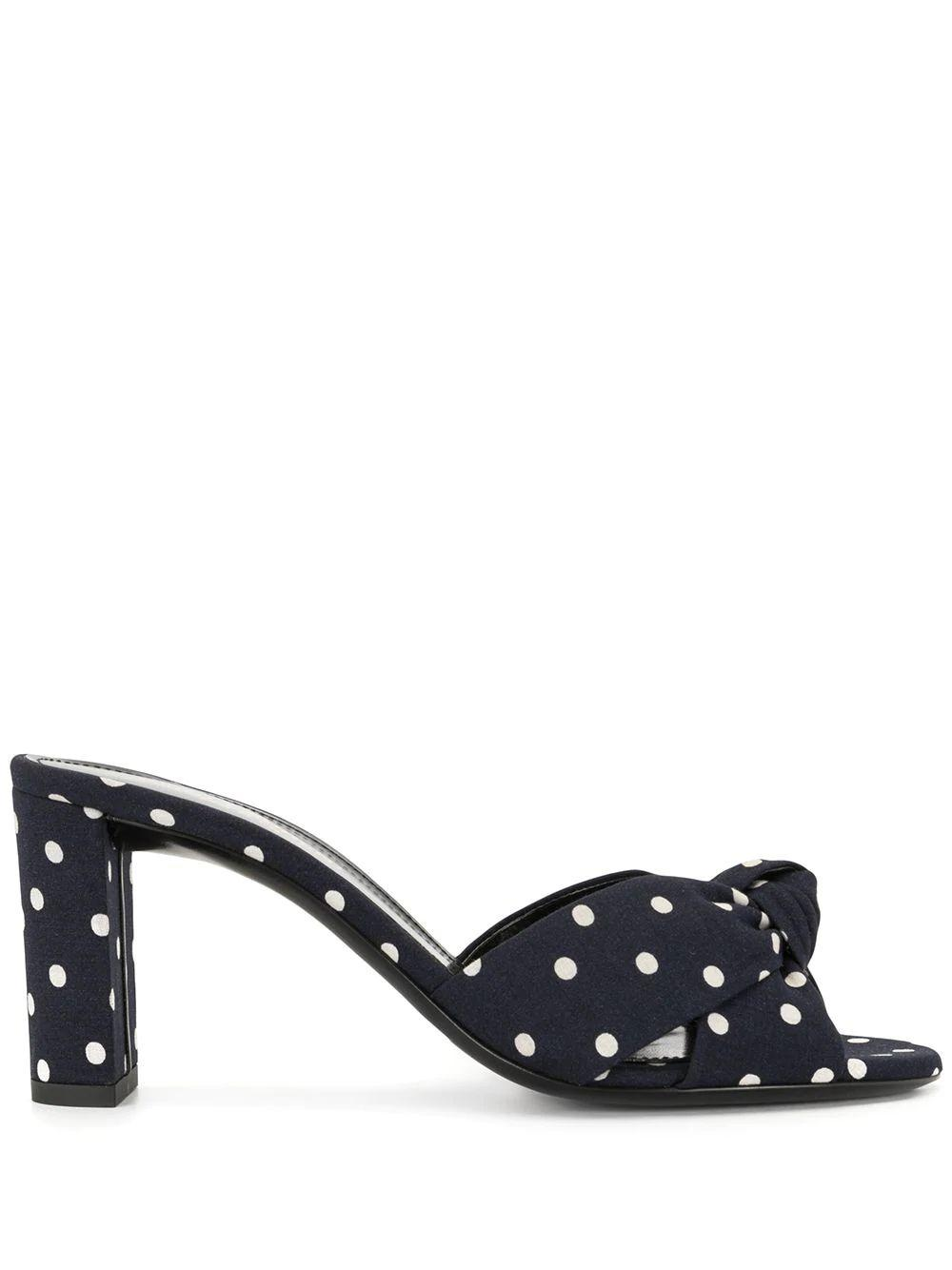 Bianca 75mm Polka Dot Mule