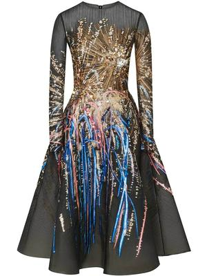 Long Sleeve Firework Dress