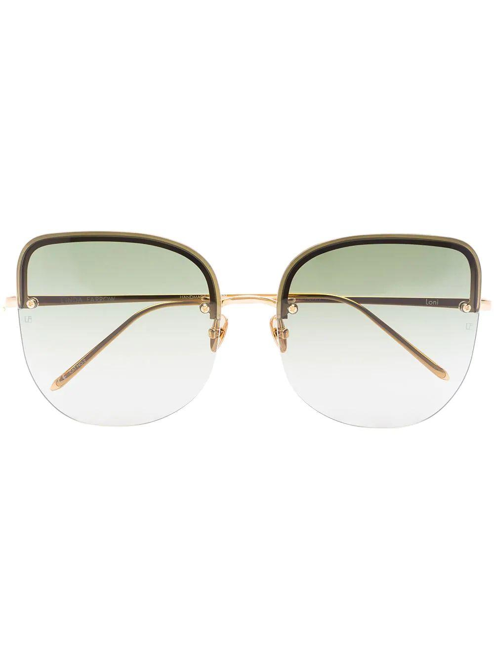 Loni 18kt Gold-Plated Sunglasses