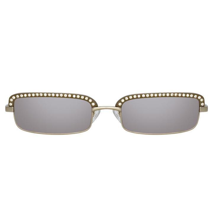 The Attico Dana Rectangular Sunglasses Item # ATTICO5C3SUN