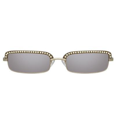 The Attico Dana Rectangular Sunglasses