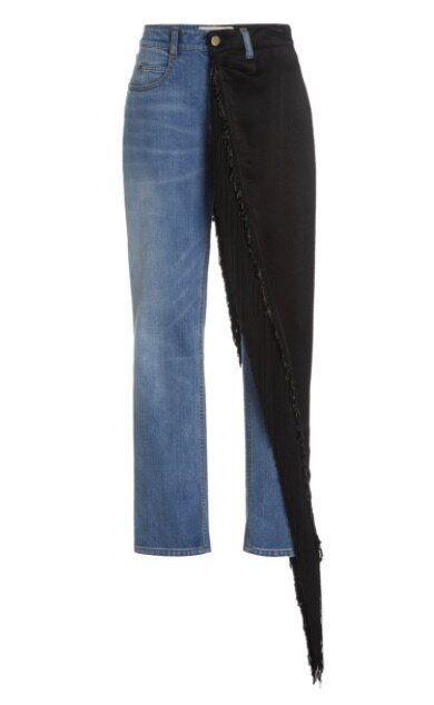 CY Straight Leg Jean With Embellished Overskirt