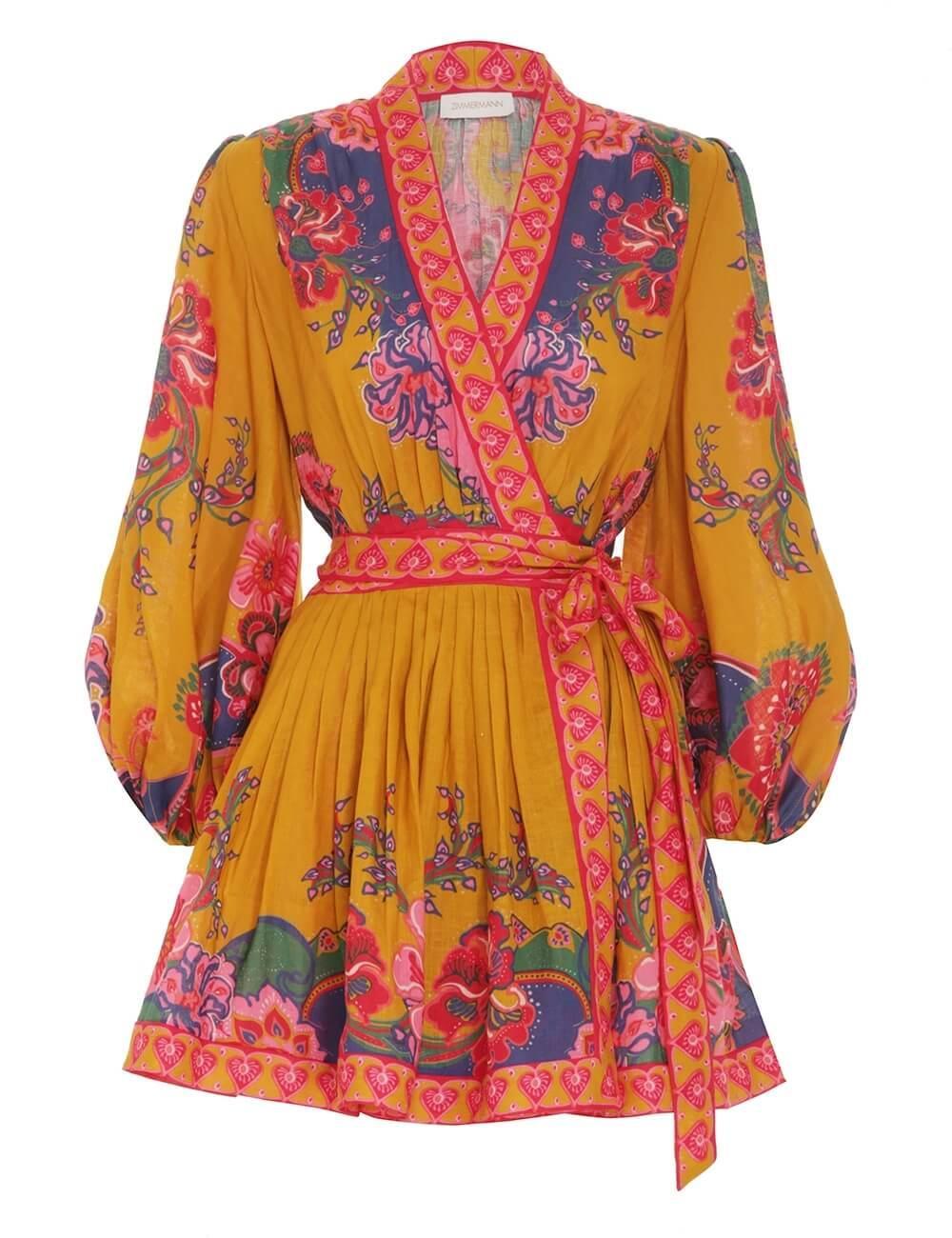 The Lovestruck Wrap Mini Dress Item # 9570DAND