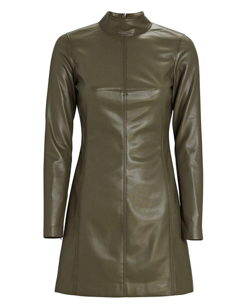 Misake Vegan Leather Dress