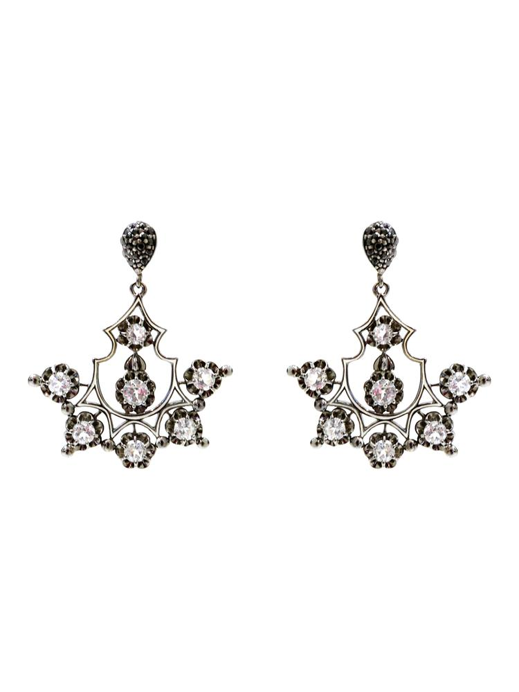 Gothic Chandelier Gem Earrings