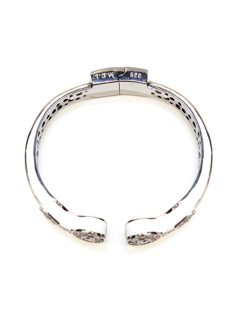 Thin Stone Pave Hinge Bangle