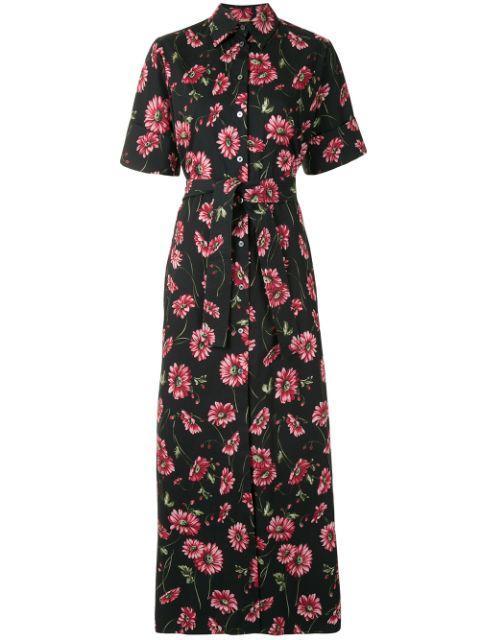 Printed Poplin Shirt Dress Item # R21707PP
