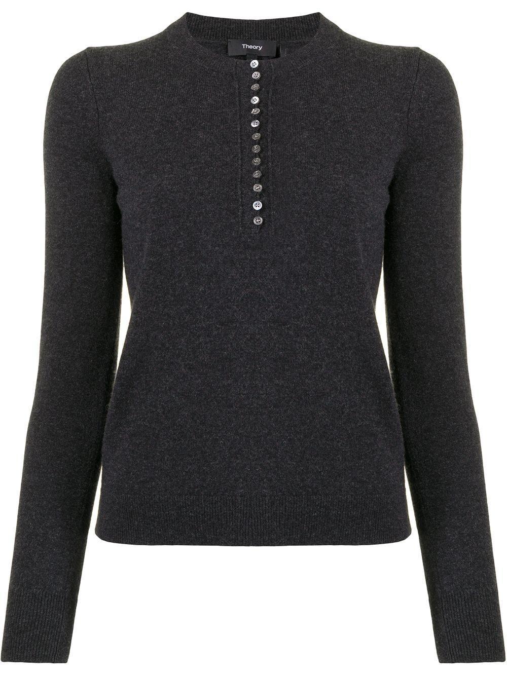 Cashmere Henley Sweater Item # J1018703-R21