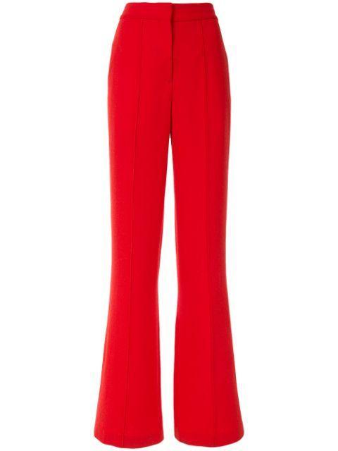 Wide Leg Wool Crepe Pant