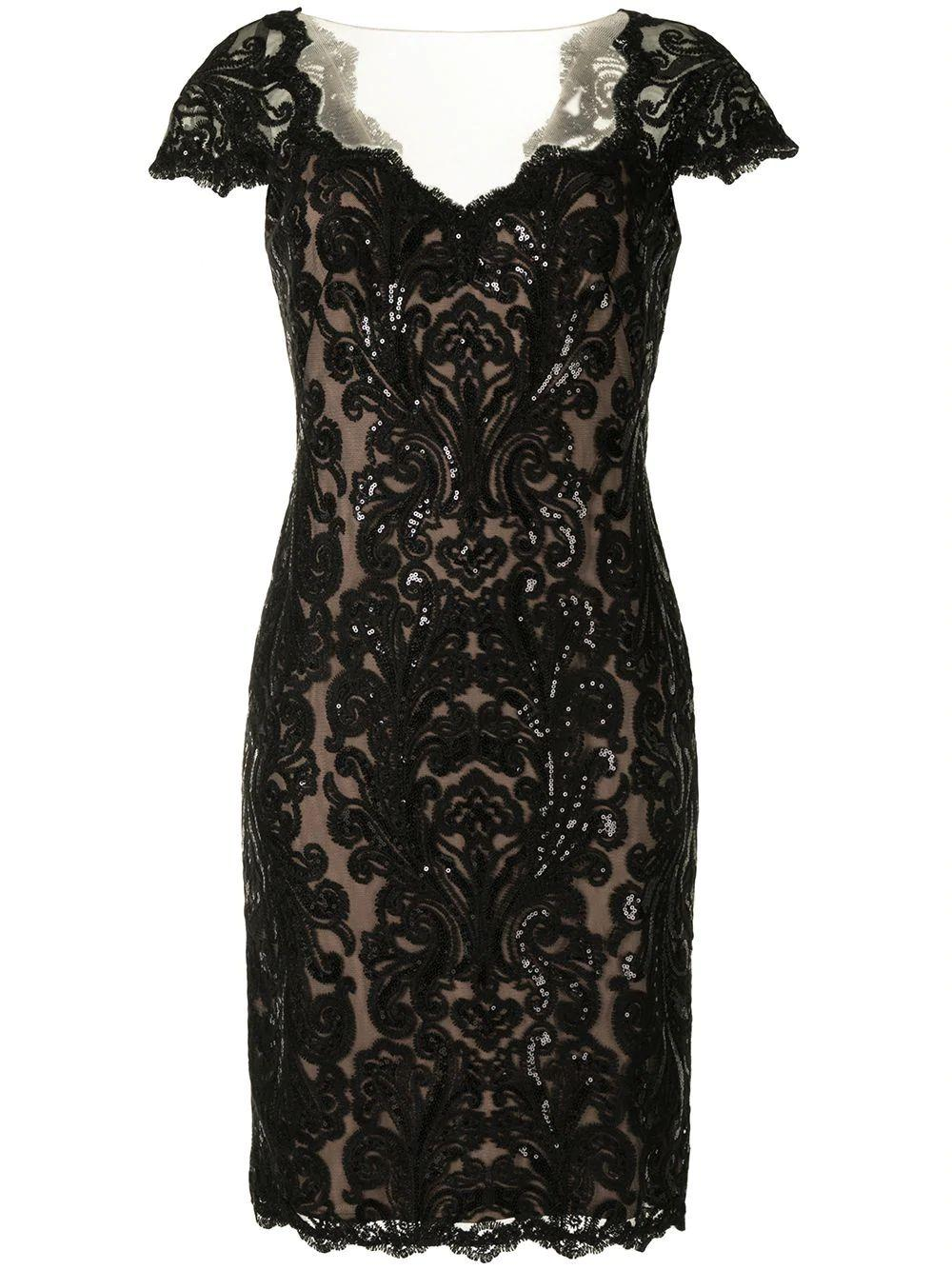 Sequin And Lace Dress Item # BQZ18077M