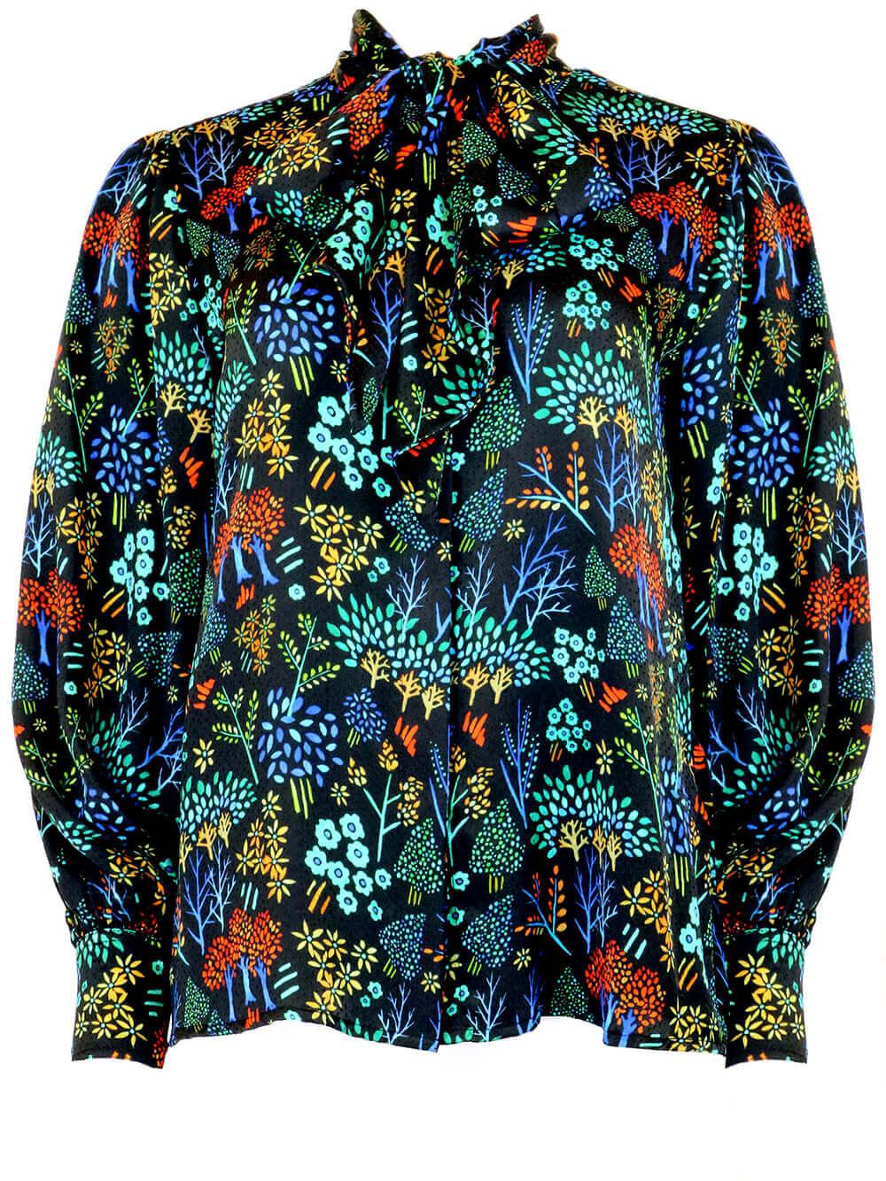 Finley Printed Blouse Item # 20FT31