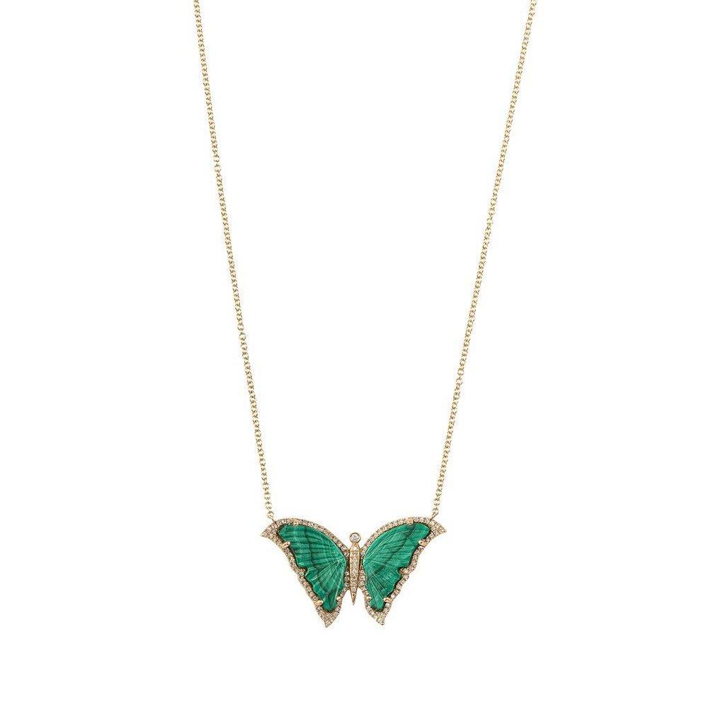 Malachite Butterfly Necklace Item # N151
