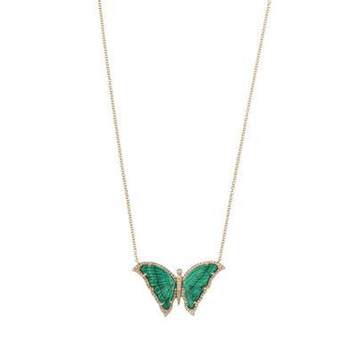 Malachite Butterfly Necklace