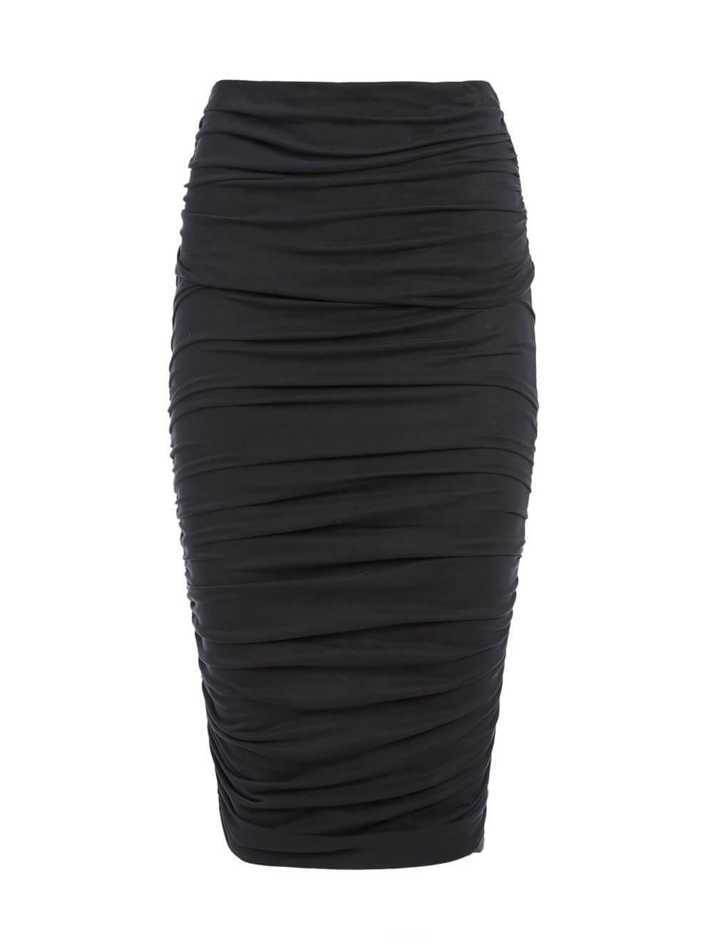 Melanie Shirred Midi Skirt