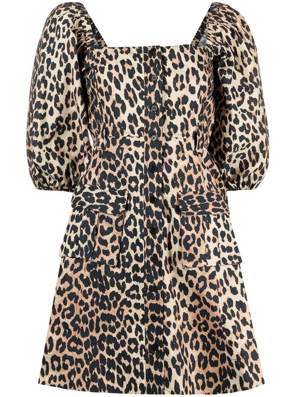 Leopard Poplin Dress Item # F5655