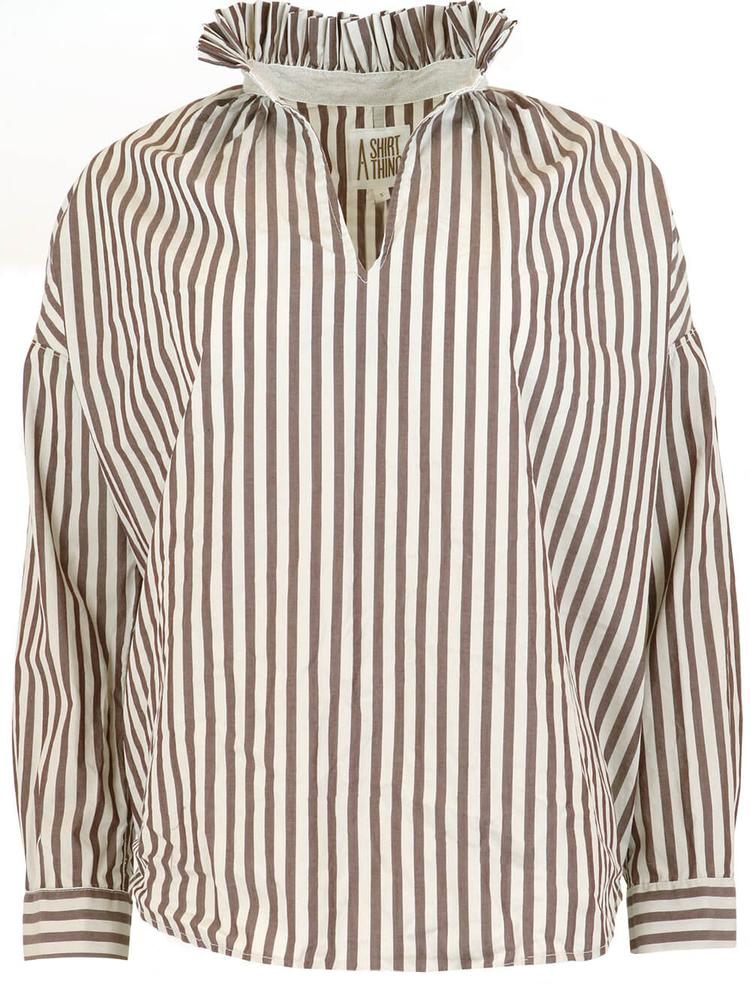 Penelope Cabo Striped Shirt Item # 20C-706-JS14111