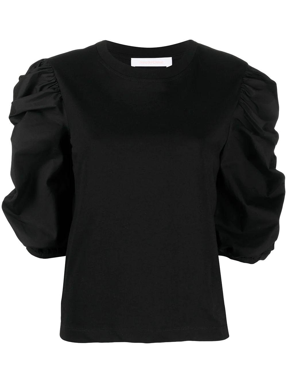 Ruched Sleeve Sweater Item # CHS21SJH43081
