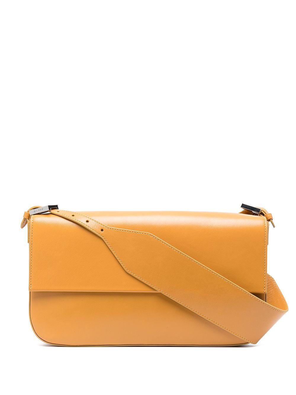 Manu Gloss Leather Shoulder Bag Item # 21CRMNSHNGLSMED
