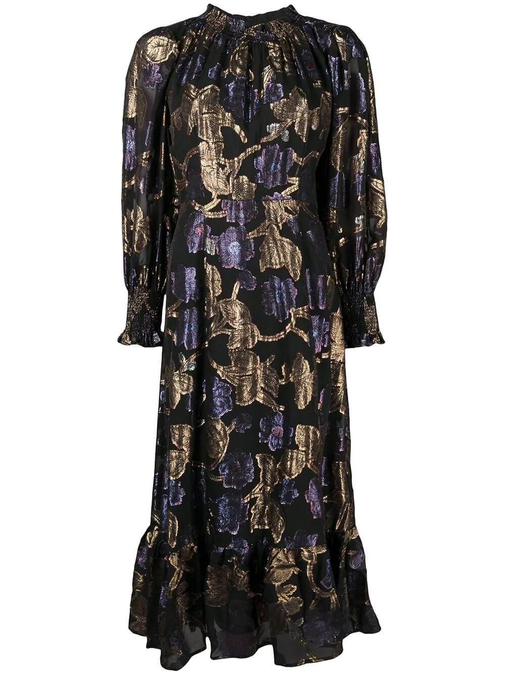 Metallic Lurex Midi Dress