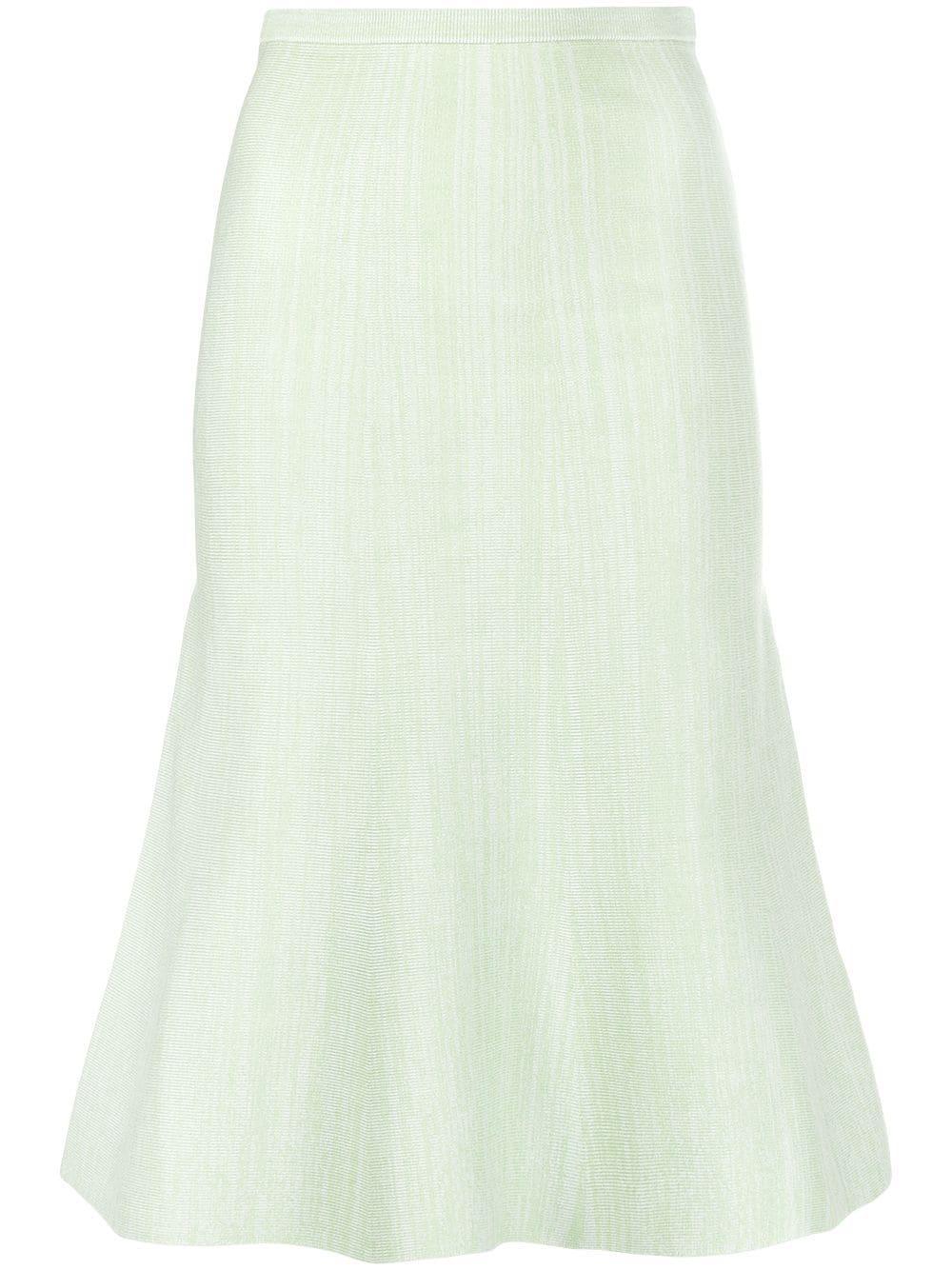 Fluted Marl Knit Skirt Item # 2121KSK002306A