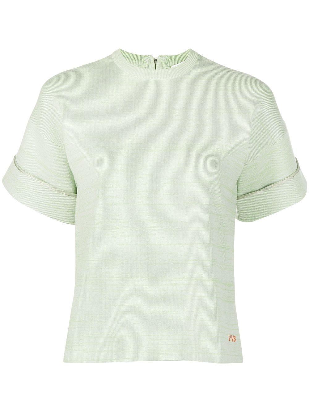Boxy Marl Knit T- Shirt Item # 2121KTP002305A