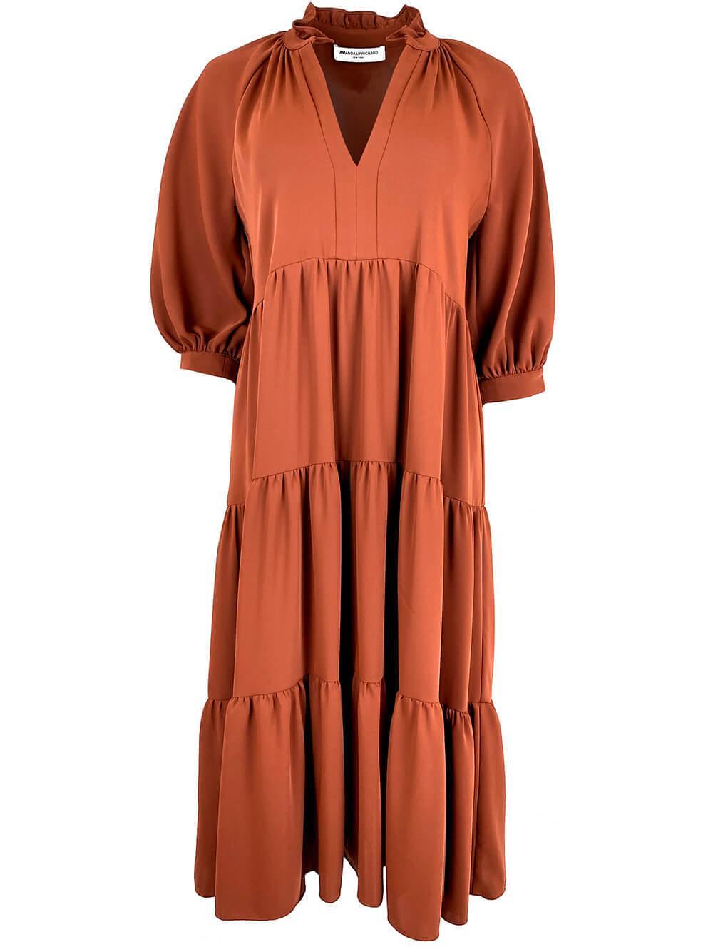 Saffron Midi Dress Item # MO-21048-R21