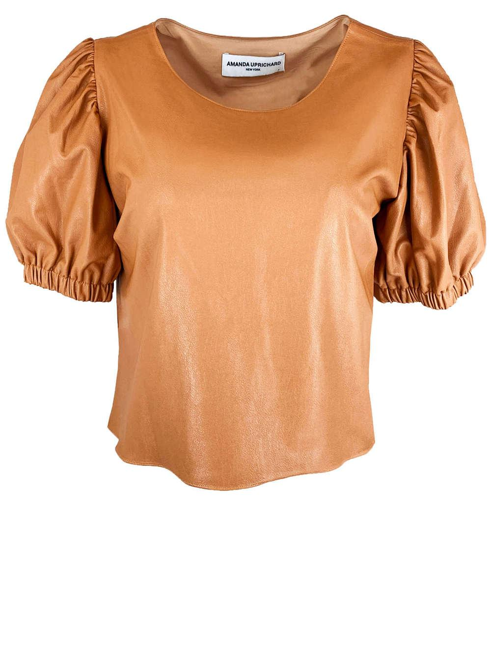 Heidi Faux Leather Top Item # SL-30488